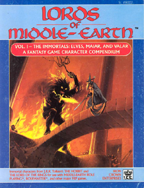 Lords of Middle-earth Vol I: The Immortals  Cover
