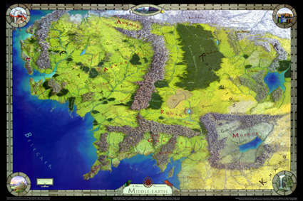 Lord of the Rings Poster Map Cover