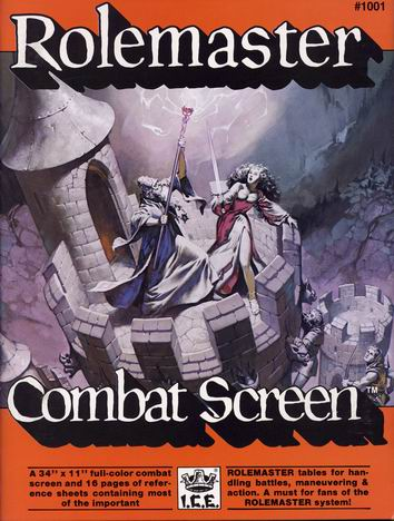 Rolemaster Combat Screen Cover