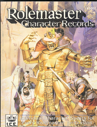Rolemaster Character Records Cover