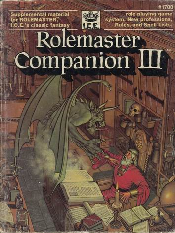 Rolemaster Companion III Cover