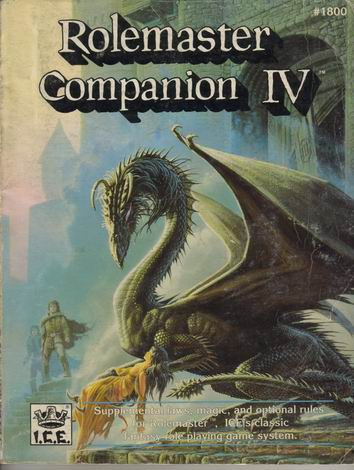 Rolemaster Companion IV Cover