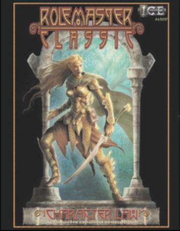 Cover of Rolemaster Classic Character Law