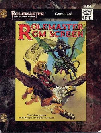 Rolemaster GM Screen Cover