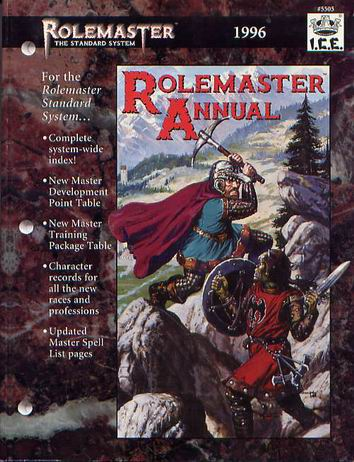 Rolemaster Annual 1996 Cover